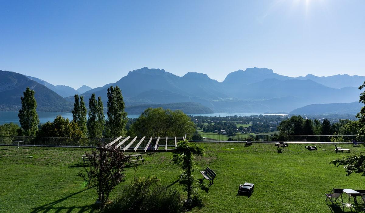 Vue lac les Balcons du lac d'Annecy