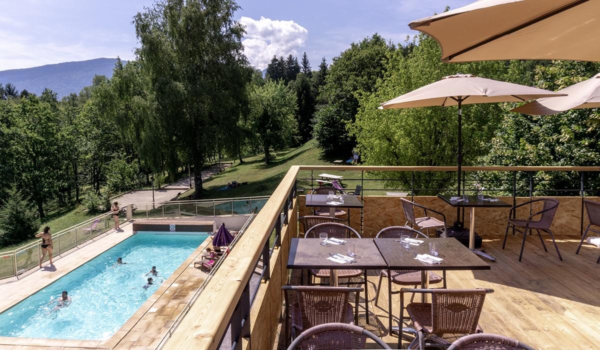 nouvelle terrasse des Balcons du lac d'Annecy