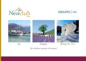brochure séjour groupes Neaclub 5 résidences en Savoie Mont Blanc