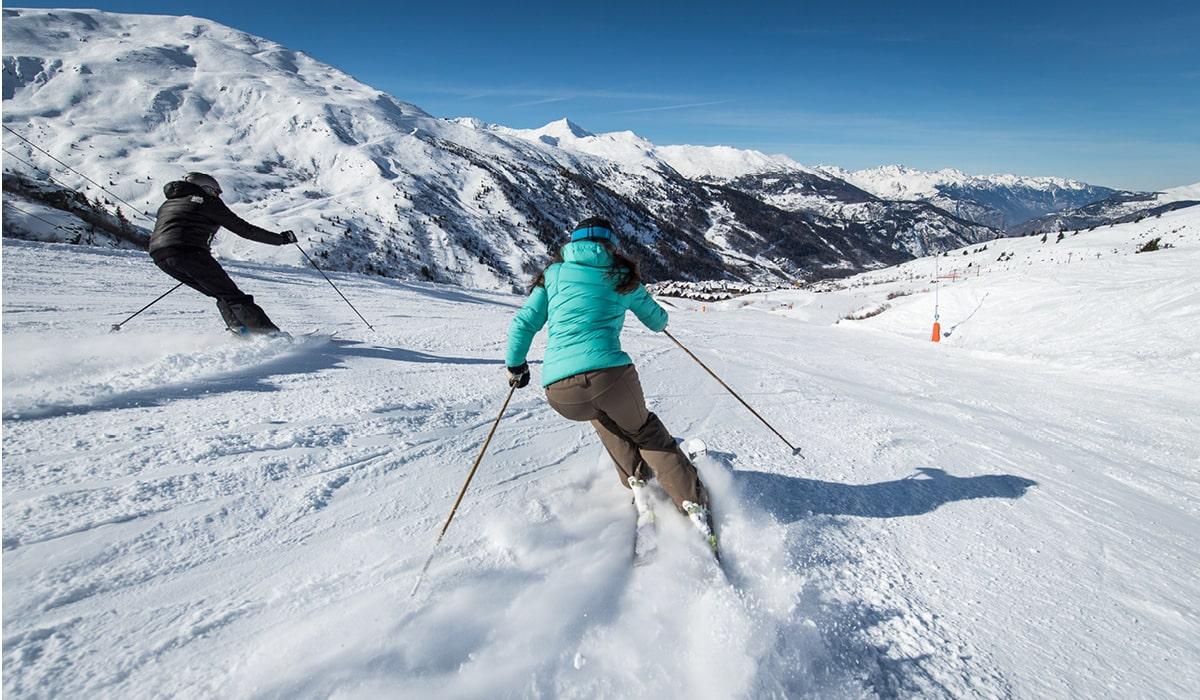 ski sur le domaine skiable de valmeinier