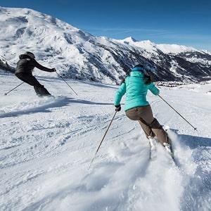 Ski alpin sur les pistes de Valmeinier