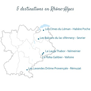 Neaclub 5 destinations en Rhône-Alpes
